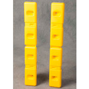 "Eagle HDPE Wall Protector, Yellow, 6""W x 42""L x 2""D (Set of 2), 1726"