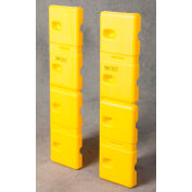 """Eagle HDPE Wall Protector, Yellow, 10""""W x 42""""L x 2""""D (Set of 2), 1728"""