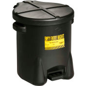 Eagle 14 Gallon Poly Waste Can W/ Foot Lever, Black - 937-FLBK