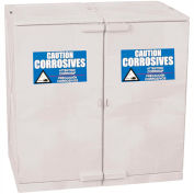 Eagle Poly Acid & Corrosive Cabinet CRAP22W with Manual Close - 22 Gallon, White