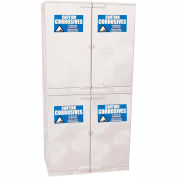 Eagle Modular Quik-Assembly Poly Acid & Corrosive Cabinet with Manual Close - 48 Gallon, White