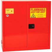 Eagle Paint/Ink Safety Cabinet with Self Close BiFord - 40 Gallon Red