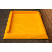 "Eagle 4 Drum SpillNEST™ Utility Tray T8103G with Grate 57-3/4"" x 57-3/4"" x 3"" - 30 Gallon Cap."