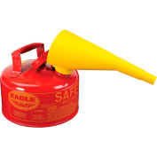 Eagle Type I Safety Can - 1 Gallon with Funnel - Red, UI-10-FS