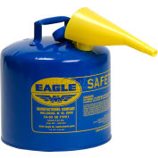 Eagle Type I Safety Can - 5 Gallon with Funnel - Blue, UI-50-FSB