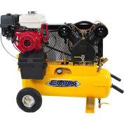 EMAX EGES0817WL Portable Gas Air Compressor w/ Honda GX Engine, 8 HP, 17 Gallon, Horizontal