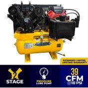EMAX EGES1830ST, 18HP, Stationary Gas Compressor, 30 Gallon, 175 PSI, 39CFM, Honda, Electric/Recoil
