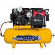 EMAX EGES2480ST, 24HP, Stationary Gas Compressor, 80 Gallon, 175 PSI, 57CFM, Honda, Electric/Recoil
