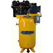 EMAX EP07V080V1, 7.5HP, Two-Stage Compressor, 80 Gallon, Vertical, 175 PSI, 26 CFM, 1-Phase 208-230V