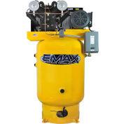 EMAX EP10V080V3, 10HP, Two-Stage Compressor, 80 Gallon, Vert., 175 PSI, 35 CFM, 3-Phase 208-230/460V