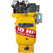 EMAX EP10V120V1, 10HP, Two-Stage Compressor, 120 Gallon, Vertical, 175 PSI, 34 CFM, 1-Phase 208-230V