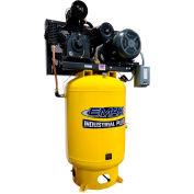 EMAX EP10V120Y1, 10HP, Two-Stage Compressor, 120 Gallon, Vertical, 175 PSI, 35 CFM, 1-Phase 208-230V