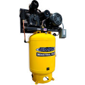 EMAX EP10V120Y3, 10 HP, Two-Stage Compressor, 120 Gal, Vert., 175 PSI, 39 CFM, 3-Phase 208-230/460V