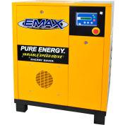 EMAX ERV0070001, 7.5HP Rotary Screw Compressor Tankless, 145 PSI, 29 CFM, 1PH 208/230V