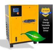 EMAX ERV0100001, 10HP Rotary Screw Compressor Tankless, 145 PSI, 45 CFM, 1PH 208/230V