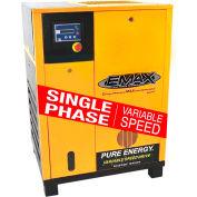 EMAX ERV0150001, 15HP Rotary Screw Compressor Tankless, 145 PSI 70 CFM, 1 PH 208/230V