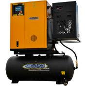 EMAX ERVK070001, 7.5 HP Rotary Screw Compressor, 120 Gal, Horz, 145 PSI, 29 CFM, 1 PH 208/232V