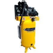 EMAX ES05V080I1, 5 HP, Two-Stage Compressor, 80 Gallon, Vertical, 175 PSI, 17 CFM, 1-Phase 208-230V
