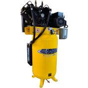 EMAX ES10V080V1, 10 HP, Two-Stage Compressor, 80 Gallon, Vertical, 175 PSI, 38 CFM, 1-Phase 208-230V