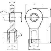 "IGUS EBLI-12R 10"" Left-Hand Female Rod-End Bearing"