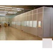 Ebtech Modular Inplant Office, Steel & Gypsum Sound, 8'W X 8'D, 2 Wall, Class A Fire Rating, Gray