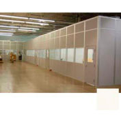 Ebtech Modular Inplant Office, Steel & Gypsum Sound, 8'W X 8'D, 2 Wall, Class A Fire Rating, Tan