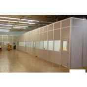 Ebtech Modular Inplant Office, Steel & Gypsum Sound, 12'W X 10'D, 4 Wall, Class A Fire Rating, White