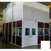 Ebtech Modular Inplant Office, Vinyl Clad Hardboard, 8'W X 8'D, 2 Wall, Class C Fire Rating, Tan