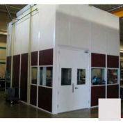Ebtech Modular Inplant Office, Vinyl Clad Hardboard, 8'W X 8'D, 3 Wall, Class C Fire Rating, Gray