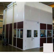Ebtech Modular Inplant Office, Vinyl Clad Hardboard, 16'W X 16'D, 3 Wall, Class C Fire Rating, Gray