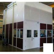 Ebtech Modular Inplant Office, Vinyl Clad Hardboard, 12'W X 24'D, 3 Wall, Class C Fire Rating, White
