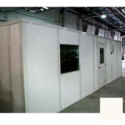 Ebtech Modular Inplant Office, Vinyl Clad Gypsum Sound, 8'x8', 2 Wall, Class A Fire Rating, Tan
