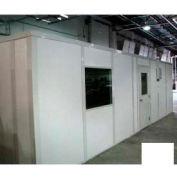 Ebtech Modular Inplant Office, Vinyl Clad Gypsum Sound, 10x16, 3 Wall, Class A Fire Rating, White
