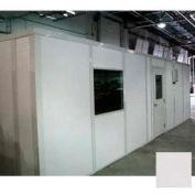 Ebtech Modular Inplant Office, Vinyl Clad Gypsum Sound, 16'x20', 3 Wall, Class A Fire Rating, Gray