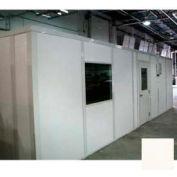 Ebtech Modular Inplant Office, Vinyl Clad Gypsum Sound, 16'x20', 3 Wall, Class A Fire Rating, Tan