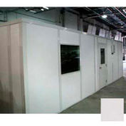 Ebtech Modular Inplant Office, Vinyl Clad Gypsum Sound, 12'x24', 4 Wall, Class A Fire Rating, Gray