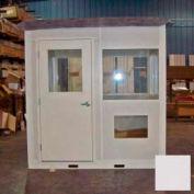 "Ebtech Pre-Assembled Security Builidng W/Sliding Door, 4'W X 6'D, 24"" Overhang Roof, 4 Wall, Gray"