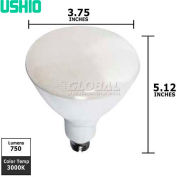 Ushio, 1003855, Uphoria Reflector Bulb, R30, Warm White, 3000K, 11 Watt, 120 Volts
