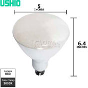 Ushio, 1003857, Uphoria Reflector Bulb, R40, Warm White, 3000K, 13 Watt, 120 Volts