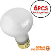 Osram Sylvania, 14794, Incandescent Light Bulb, R20, E26 Medium Screw, 6 Bulbs, 30 Watt