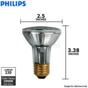 Philips, 152165, Halogen Light Bulb, PAR20, 20 Watt, 120 Volts