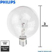 Philips, 166990, DuraMax Decorative Bulb, Globe G16.5, E12 Candelabra Screw, Clear, 60 Watt
