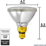 Osram Sylvania, 16743, Halogen Reflector Light Bulb, PAR38, 70 Watt, 120 Volts