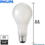 Philips, 169490, DuraMax Three Way Bulb, A21, E26D 3 Contact Medium Screw, Soft White, 50 Watt