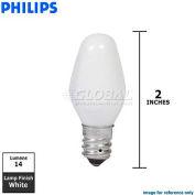 Philips, 257089, Night Light Bulb, C7, E12 Candelabra Screw, White, 4 Watt