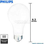 Philips, 362913, Incandescent Light Bulb, A23, E26 Medium Screw, Frosted, 200 Watt