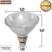 Platinum, 60PAR38FL, Halogen Light Bulb, PAR38, 60 Watt, 120 Volts