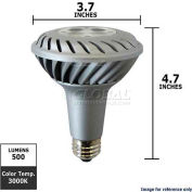 GE, 61924, Energy Smart Light Bulb, PAR30L, Silver, 3000K, 10 Watt