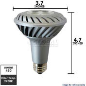GE, 61925, Energy Smart Light Bulb, PAR30L, Silver, 2700K, 10 Watt