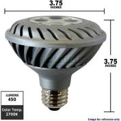 GE, 65138, Energy Smart Light Bulb, PAR30, Dimmable, Silver, 2700K, 12 Watt, 120 Volts